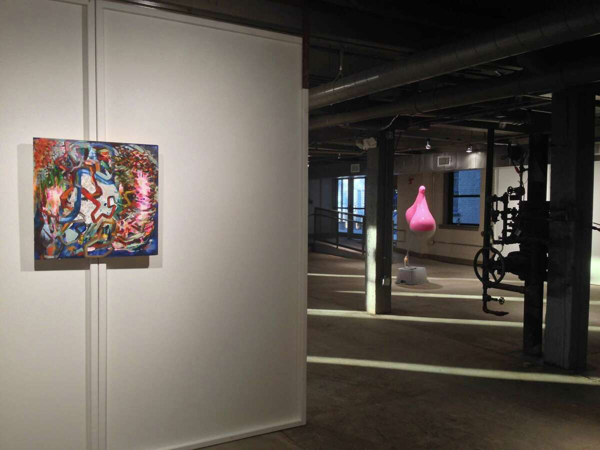 The Pitch Axis (Installation view), Matt Tiernan, 2015, Oil and enamel on panel, 24