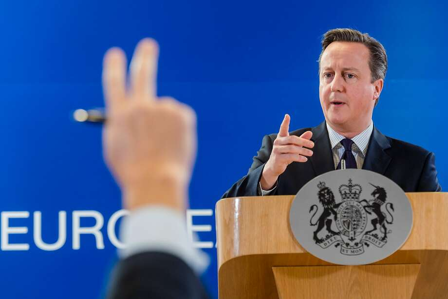 """David Cameron told the summit:""""No one country can defeat it alone. We have to defeat it together."""" Photo: Geert Vanden Wijngaert, Associated Press"""