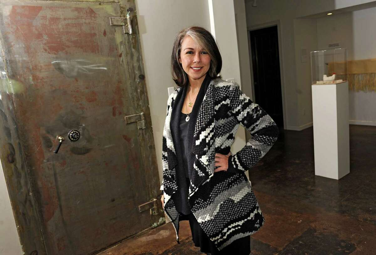 Alana Sparrow, co-owner of the Foundry for Art Design + Culture, stands in the gallery space on Tuesday, Dec. 1, 2015 in Cohoes, N.Y. (Lori Van Buren / Times Union)