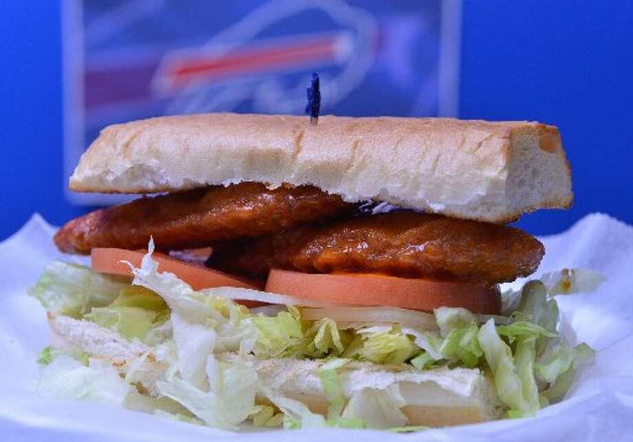 Buffalo Bills: Plaza Pizza 'N Wings, Lone Oak Plaza, 1208 FM 78 Ste. D, Schertz, 210-659-7579, Facebook: Plaza Pizza-N-Wings  The chicken finger sub