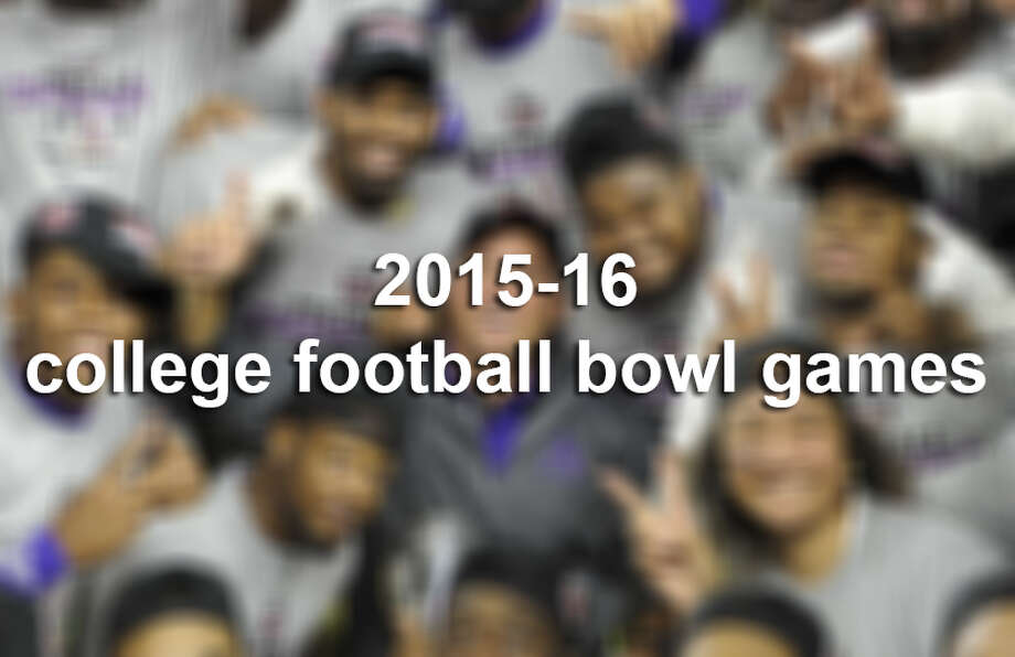 2015-16 college football bowl games Photo: Associated Press