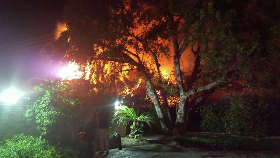 The fire on my street. Photo: Kathryn Peterson
