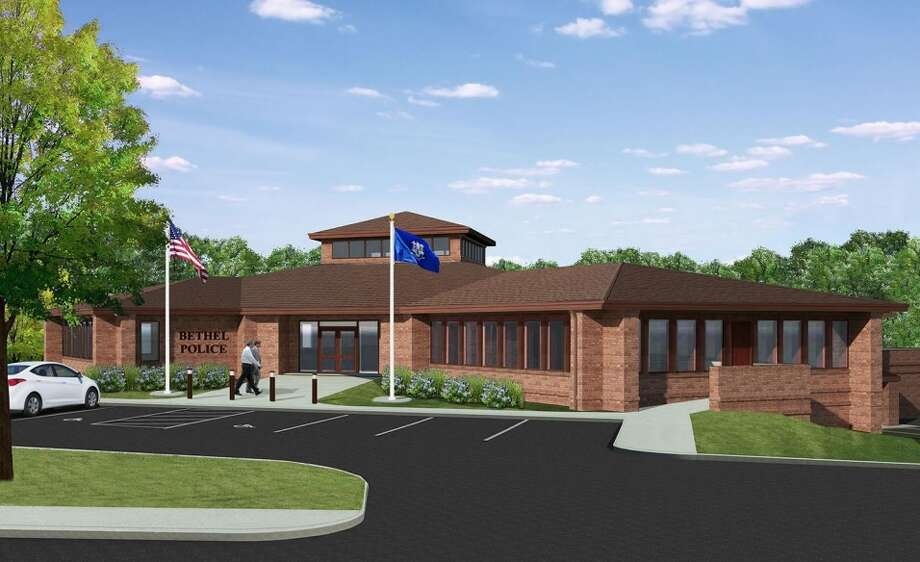 This is an artist's rendering of the entrance of the proposed new Bethel police station Photo: Contributed