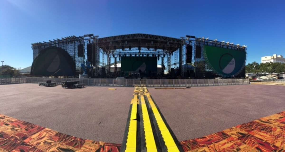 On Friday afternoon final preparations were being made off Edwards Street to welcome some estimated 20,000 music fans to the first-ever Day for Night music and art installation festival.