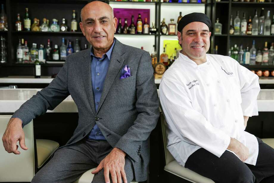 Bistecca Italian Steakhouse owner Abbas Hussein, left, and chef Alberto Baffoni are enthusiastic about the new restaurant. Photo: Michael Ciaglo, Staff / © 2015  Houston Chronicle
