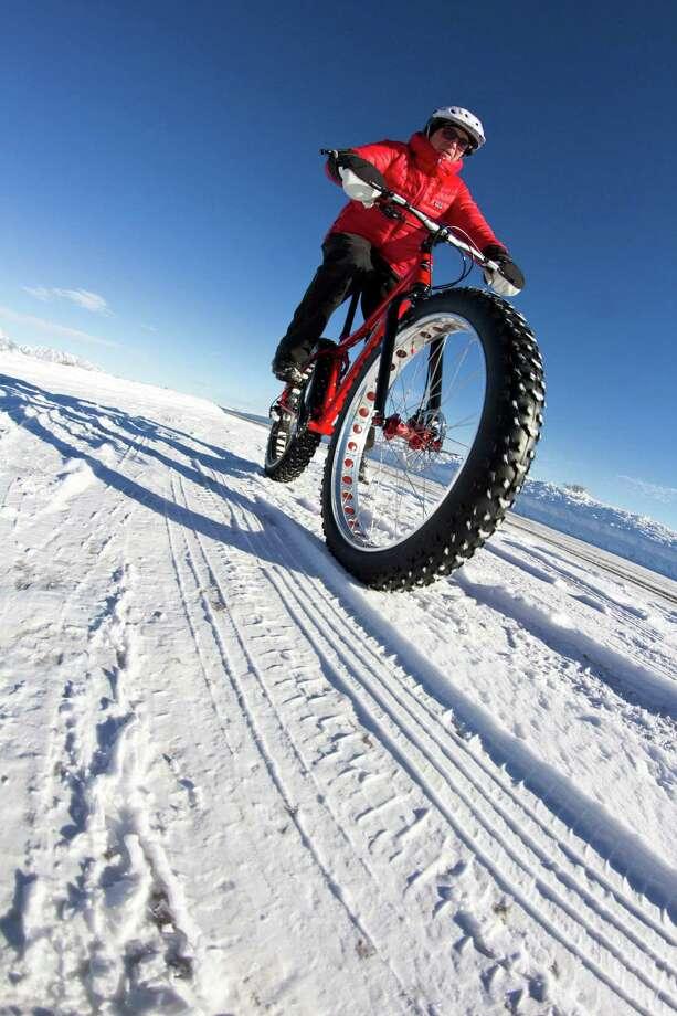 Fat biking is a big trend at ski resorts for the 2015-2016 season. An early adopter was Jackson Hole, Wyo., where David Hungar runs Teton Mountain Bike Tours. Photo: Patrick Nelson / Louise Hudson