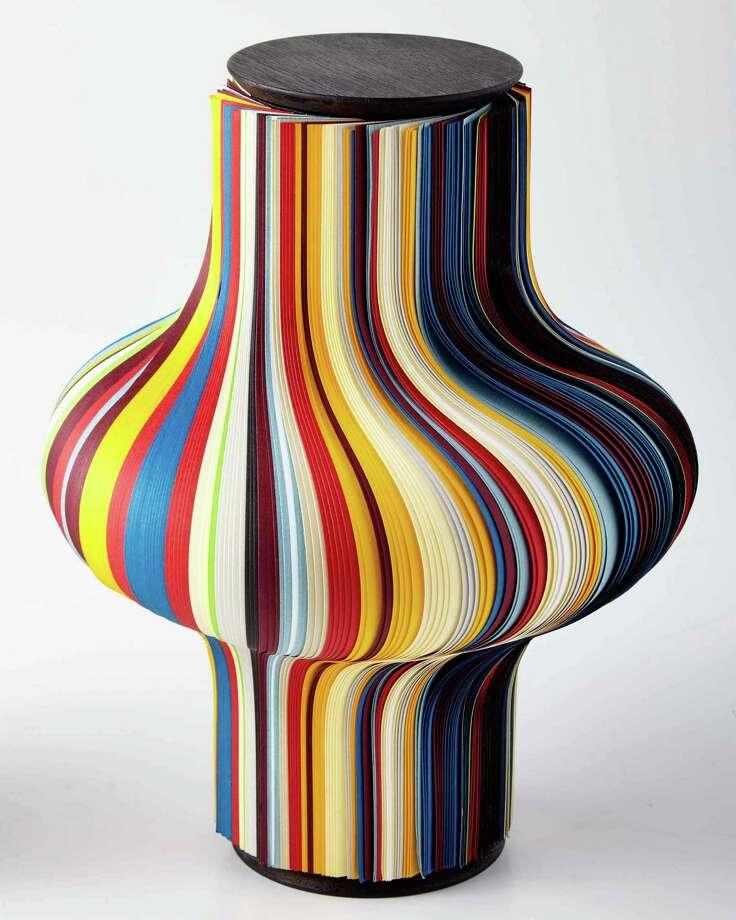 Paper and cardboard vase, $225