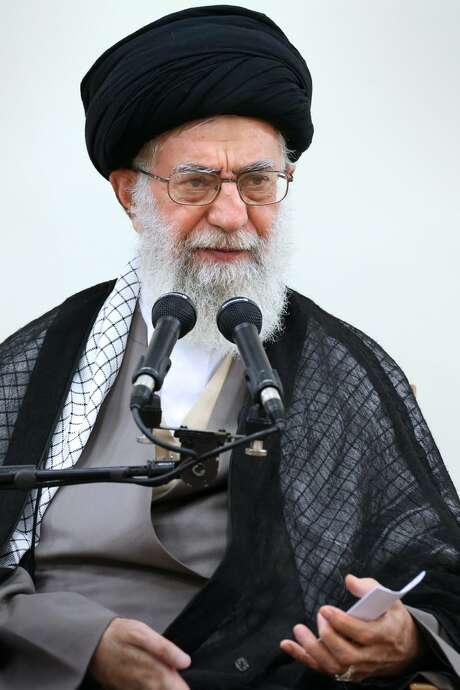 "A handout picture released by the official website of the Centre for Preserving and Publishing the Works of Iran's supreme leader Ayatollah Ali Khamenei shows him addressing members of Assembley of Experts during a meeting in Tehran on September 3, 2015. Khamenei warned that there could be no nuclear deal with the West if sanctions imposed on Tehran are not lifted. AFP PHOTO / HO / KHAMENEI.IR   === RESTRICTED TO EDITORIAL USE - MANDATORY CREDIT - ""AFP PHOTO / HO / KHAMENEI.IR"" - NO MARKETING NO ADVERTISING CAMPAIGNS - DISTRIBUTED AS A SERVICE TO CLIENTS ===-/AFP/Getty Images Photo: Handout / khamenei.ir"