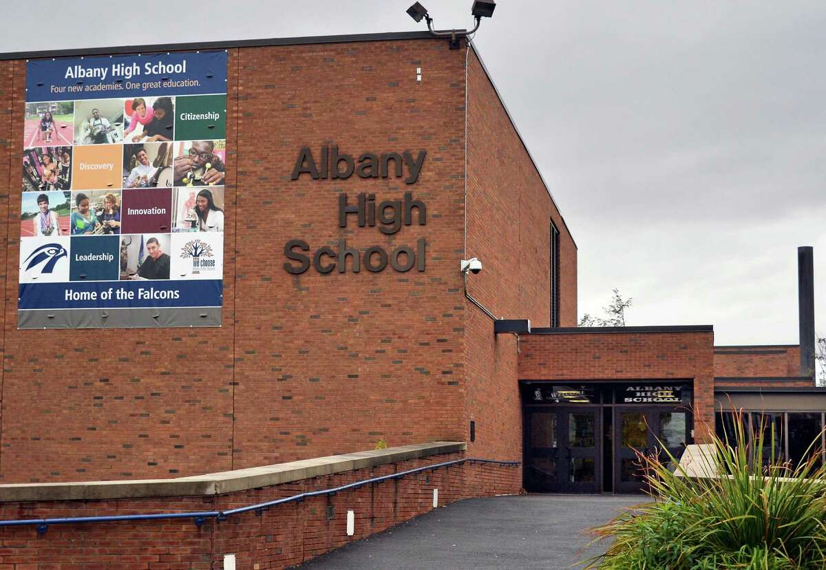 Exterior of Albany High School Wednesday Oct. 28, 2015 in Albany,NY. (John Carl D'Annibale / Times Union)