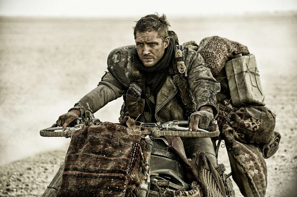 """This photo provided by Warner Bros. Pictures shows Tom Hardy, as Max Rockatansky, in """"Mad Max:Fury Road."""""""