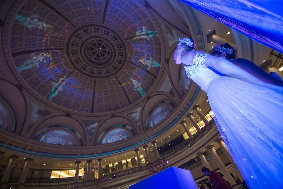 San Francisco's downtown Westfield Centre will be hosting a nightly 3-D lightshow under its iconic dome, themed around the beloved holiday story of The Nutcracker. Every 30 minutes after 5 p.m. Dec.19-31. Photo: Courtesy Of Westfield SF