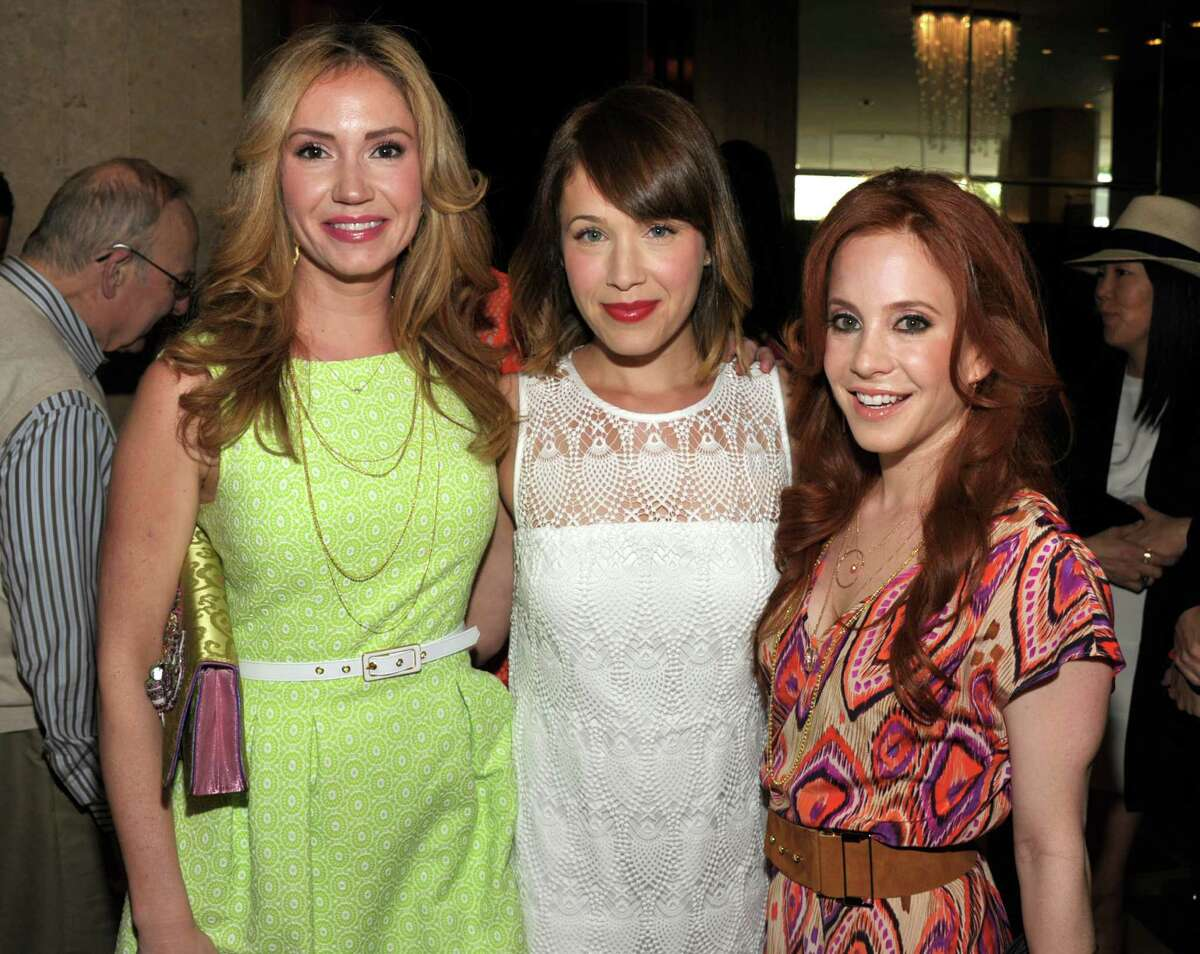 Ashley Jones, from left, Marla Sokoloff, and Amy Davidson attend the 10th Annual Inspiration Awards at the Beverly Hilton Hotel on Friday, May 31, 2013 in Los Angeles. (Photo by John Shearer/Invision/AP)