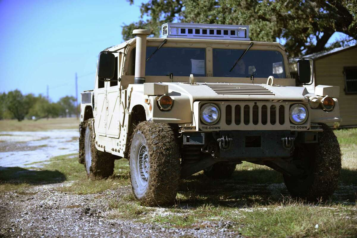 Driver-less Humvee: It's able to navigate from point A to point B using cameras, sensing technology and software.