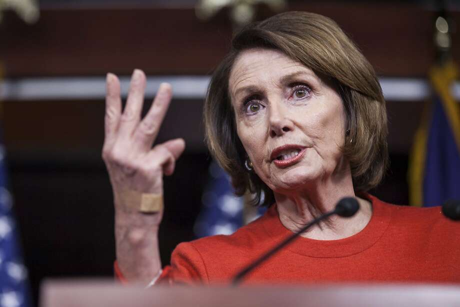 House Minority Leader Nancy Pelosi during a news conference on Capitol Hill in Washington, Dec. 17. Photo: Zach Gibson, New York Times