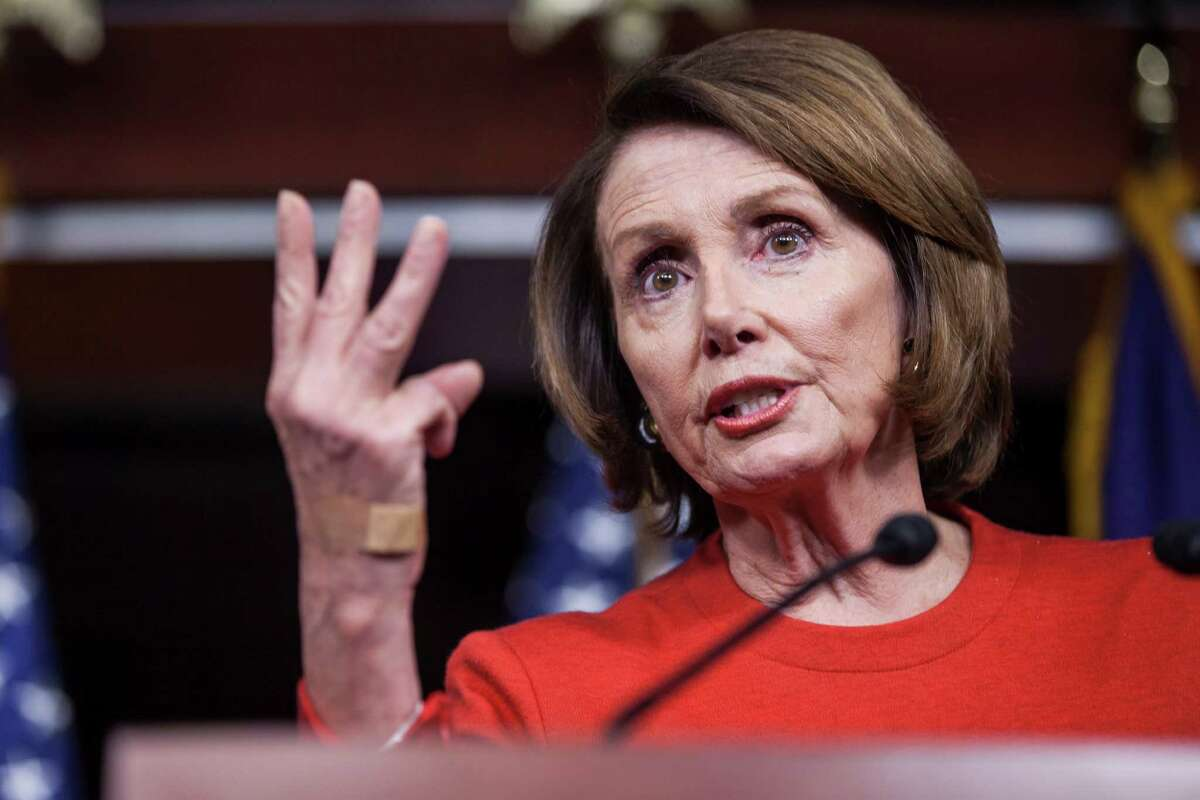 House Minority Leader Nancy Pelosi (D-Calif.) during a news conference on Capitol Hill in Washington, Dec. 17, 2015. The House on Thursday approved a huge package of tax breaks for businesses and low-income workers, the first of two components in a sweeping year-end budget deal. (Zach Gibson/The New York Times)