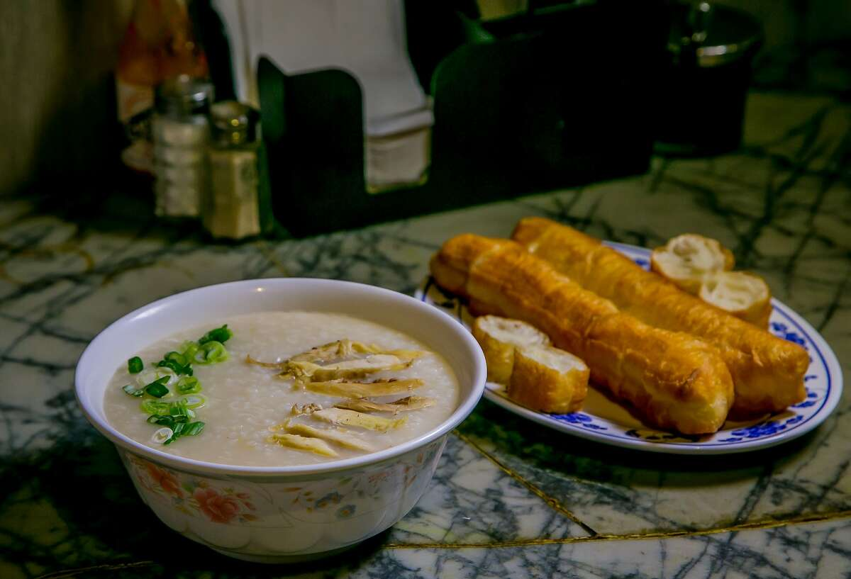 The Chicken Jook with Chinese Doughnuts at Sam Wo's in San Francisco, Calif. is seen on Friday, December 18th, 2015.