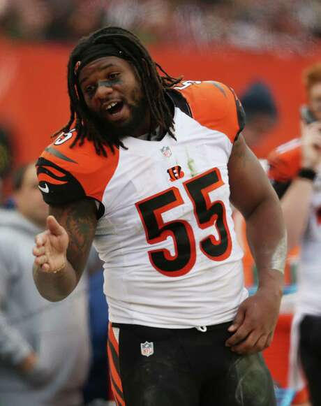 Cincinnati Bengals outside linebacker Vontaze Burfict (55) against the Cleveland Browns in the second half of an NFL football game, Sunday, Dec. 6, 2015, in Cleveland. (AP Photo/Ron Schwane) Photo: Ron Schwane, FRE / FR78273 AP