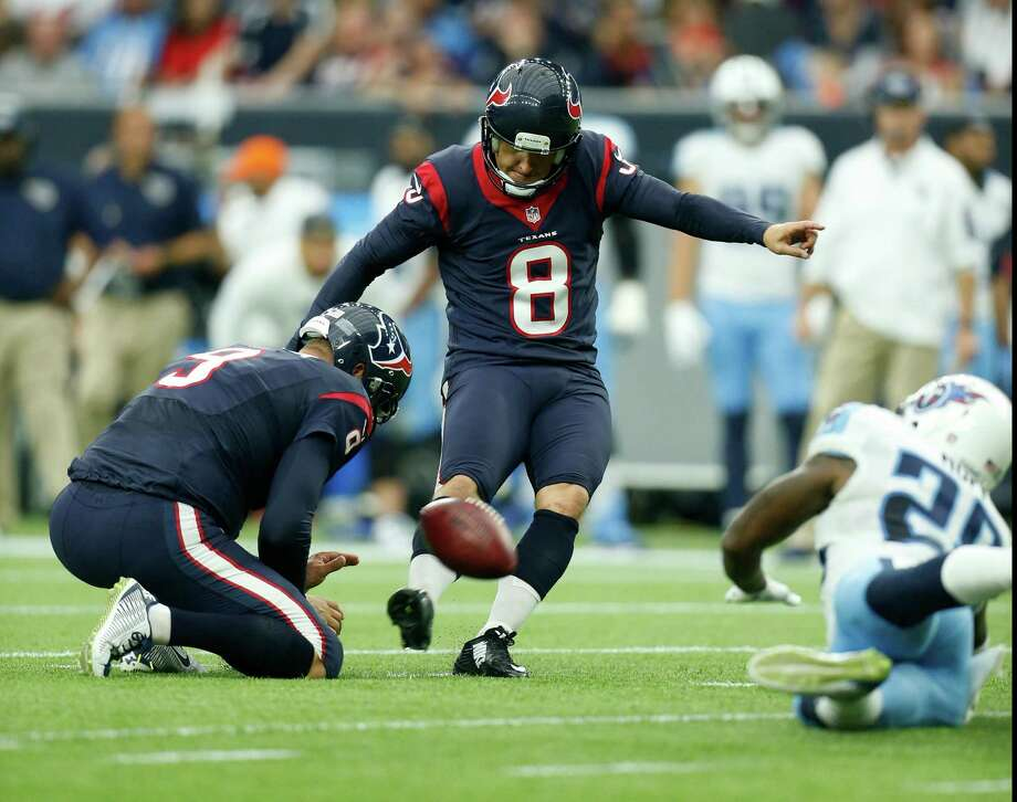 Nick Novak has been a reliable kicker for the Texans since winning a five-man, in-season competition for the job in September. Photo: Karen Warren, Staff / © 2015 Houston Chronicle