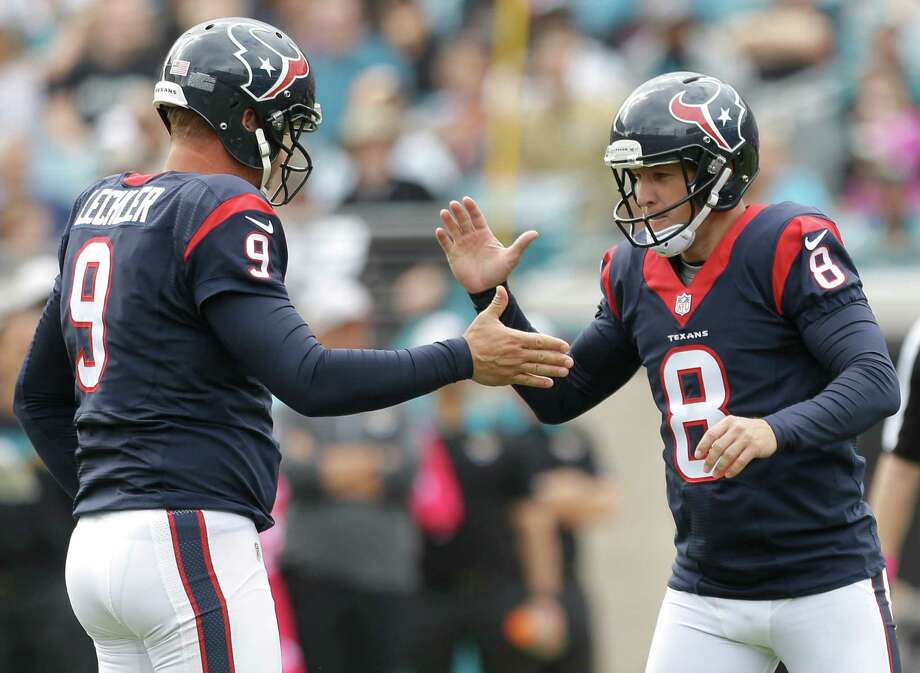 Punter Shane Lechler (left) and kicker Nick Novak are both free agents, leaving the Texans with key decisions to make this offseason. Click through the gallery to see John McClain's 2015 report card. Photo: Brett Coomer, Staff / © 2015  Houston Chronicle