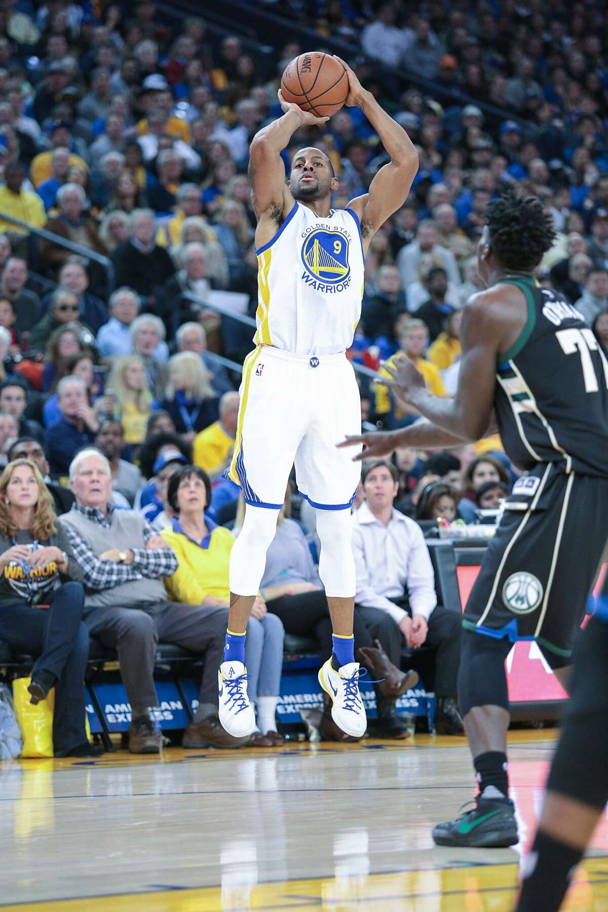 The next guys up are sixth man Andre Iguodala and backup point guard...