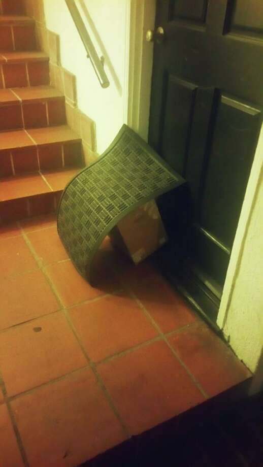 This package is safe and sound from lurking thieves. Photo: Melody Towner