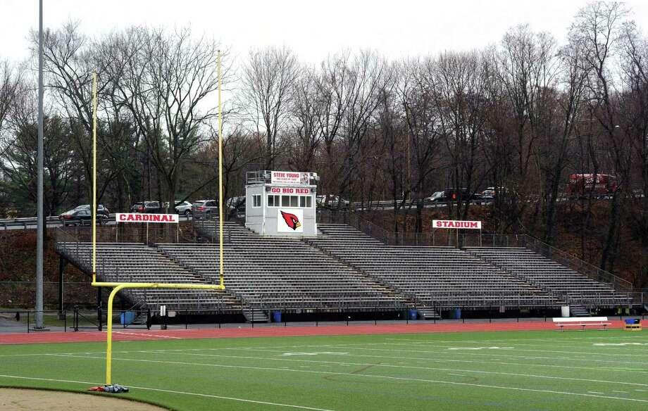 Cardinal Stadium at Greenwich High School, Conn., Thursday, Dec. 17, 2015. Photo: Bob Luckey Jr. / Hearst Connecticut Media / Greenwich Time