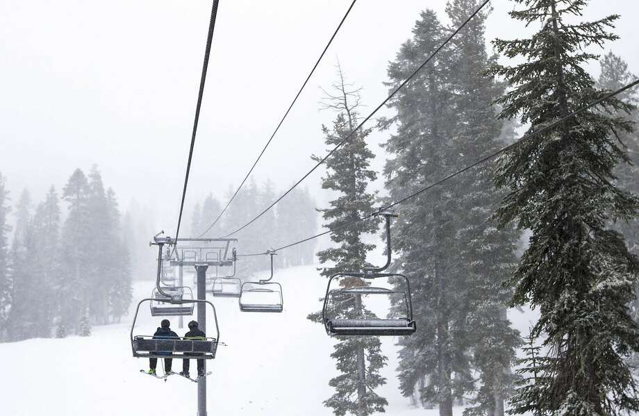 Rain by the bay and snow in the Sierra would help ease the drought. Photo: Associated Press