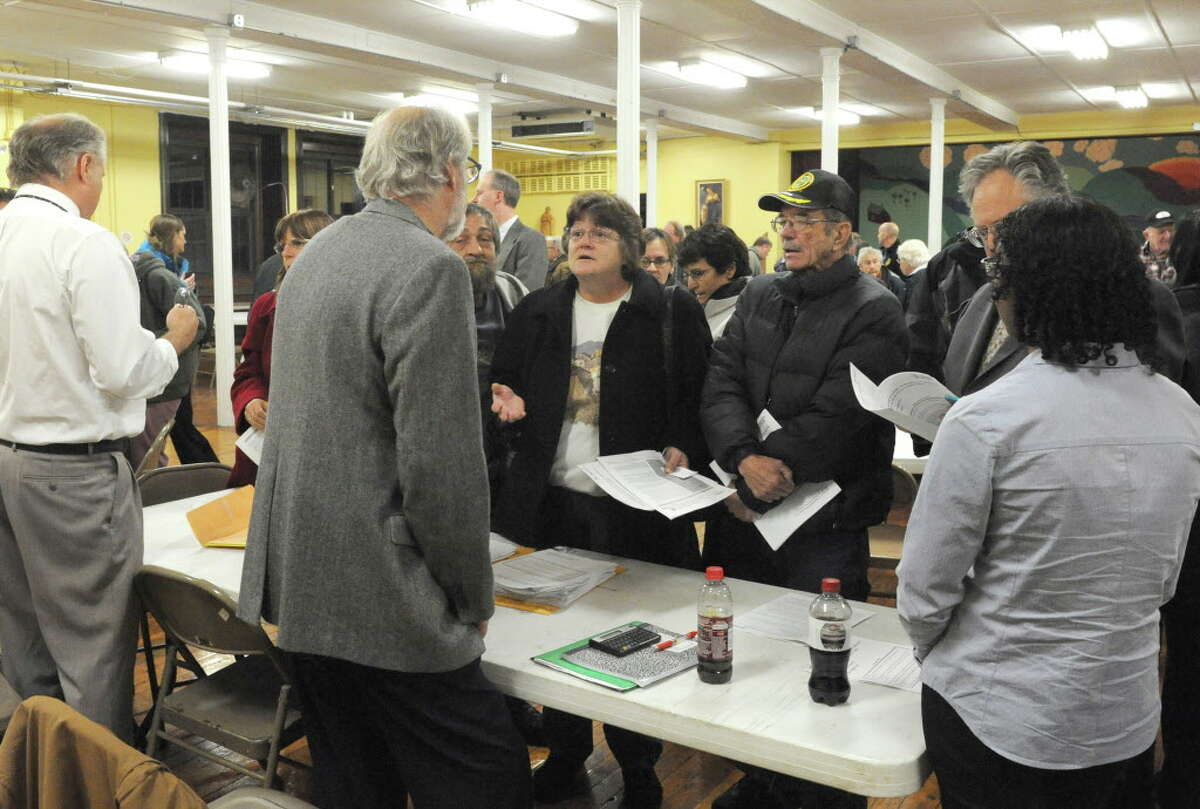 A community meeting regarding water pollution at Immaculate Conception Church on Wednesday Dec. 2, 2015 in Hoosick Falls, N.Y. (Michael P. Farrell/Times Union)