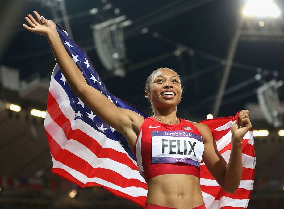 Allyson Felix won gold in the women's 200 meters at the 2012 Olympic Games in London, England. Photo: Julian Finney, Getty Images