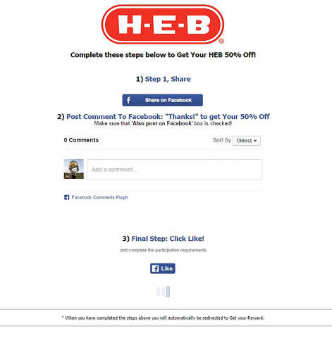 Fake H-E-B coupon spreading across Facebook - San Antonio