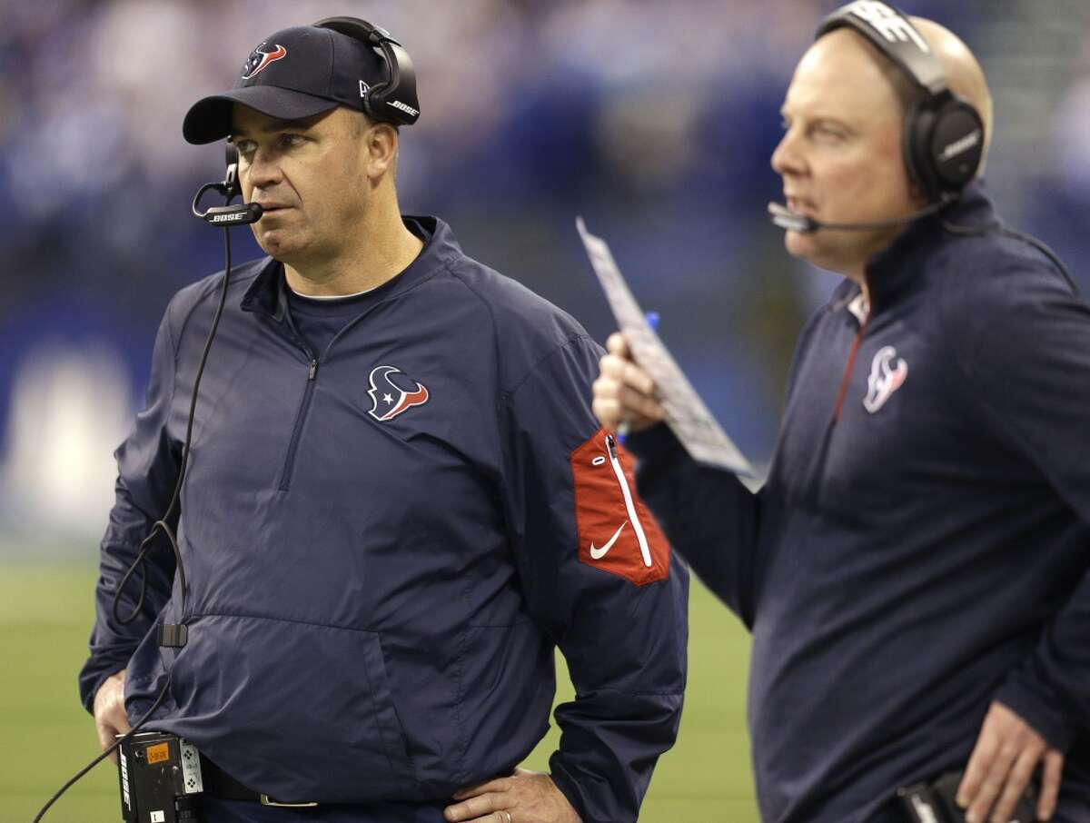Texans head coach Bill O'Brien will be taking over play-calling duties from offensive coordinator George Godsey (right) for Sunday's game against Tennessee.