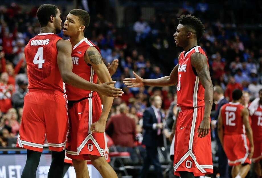 Four upsetsSaturday was full of upsets as several top ranked teams went down.  1. Ohio State (6-5) upended No. 4 Kentucky (9-2) 74-67 on Saturday at the CBS Sports Classic. Kentucky guard Jamal Murray scored 33 points, but it wasn't enough to hold off the upset-minded Buckeyes. Photo: Frank Franklin II, Associated Press / AP