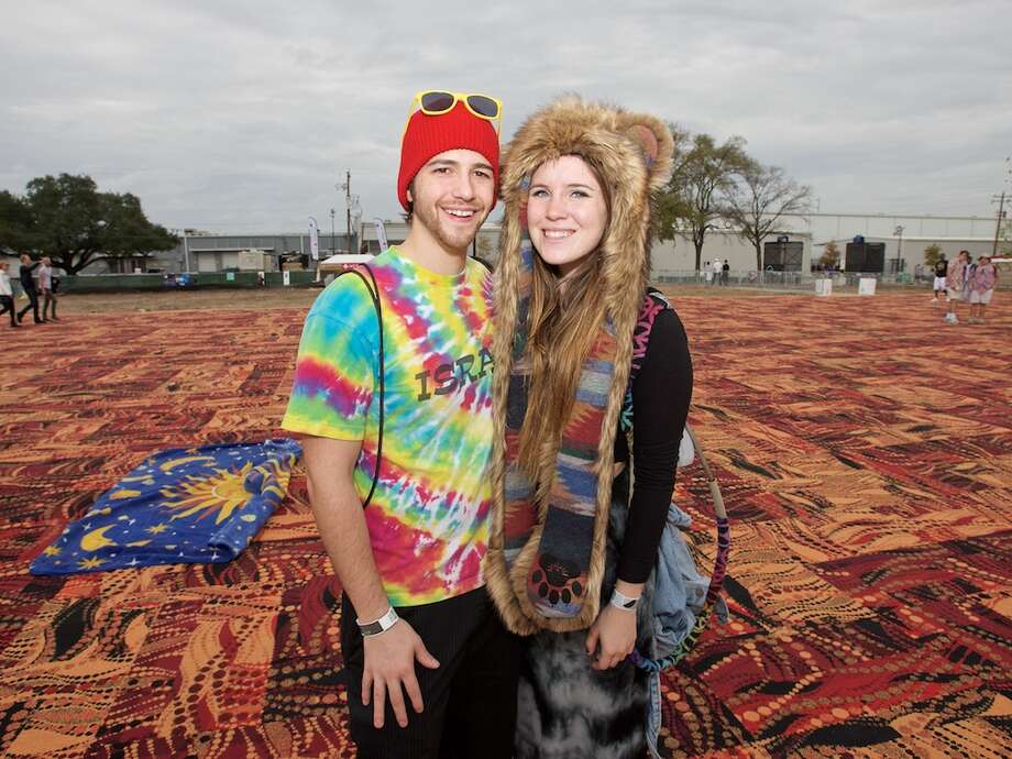 "At the 2015 Day for Night festival, the carpet -- ""like a Las Vegas casino floor,"" says designer Jeannie Wu -- was a favorite photo backdrop. Photo: Jay Dryden L jaydrydenphoto.com / copyright 2015 Jay Dryden 