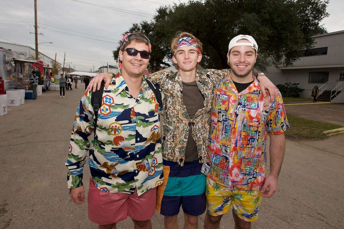 Fans pose for a photo at Day for Night festival Sunday, Dec. 20, 2015, in Houston.