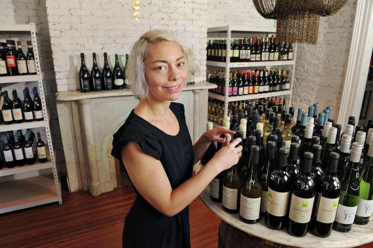 Heather LaVine in her new wine shop, 22 Second St Wine Co., Friday Nov. 20, 2015 in Troy, NY.(John Carl D'Annibale / Times Union)