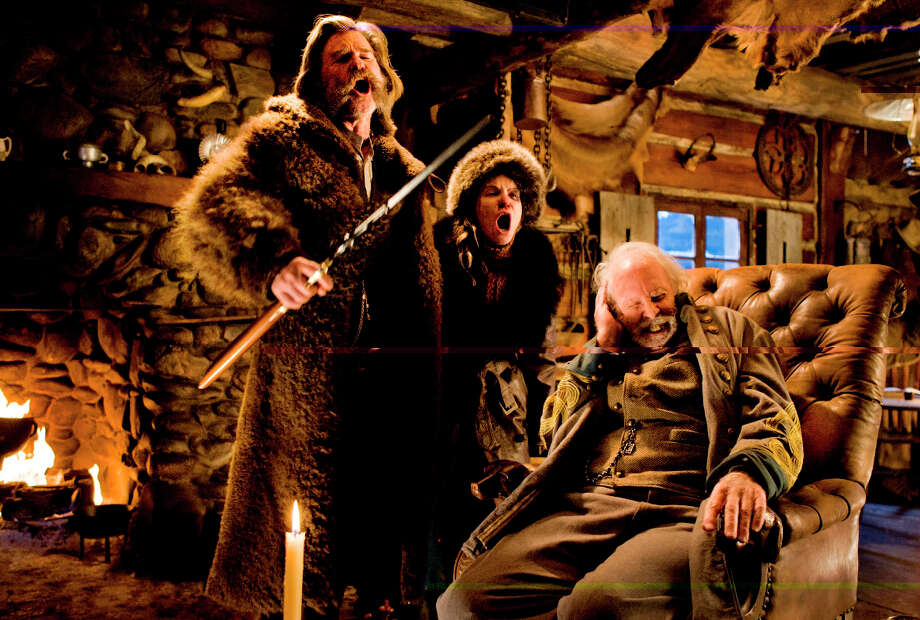 "(L-r) Kurt Russell, Jason Leigh and Bruce Dern in ""The Hateful Eight."" Photo: Andrew Cooper /Washington Post / © 2015 The Weinstein Company. All Rights Reserved."