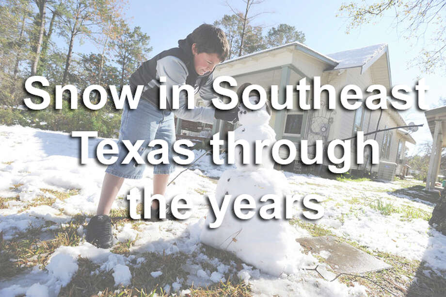Despite the cold weather that comes with it, snowfall in Southeast Texas seems to draw people outdoors. See photos of snowmen, snowball fights and more during past snowfalls in Southeast Texas. /