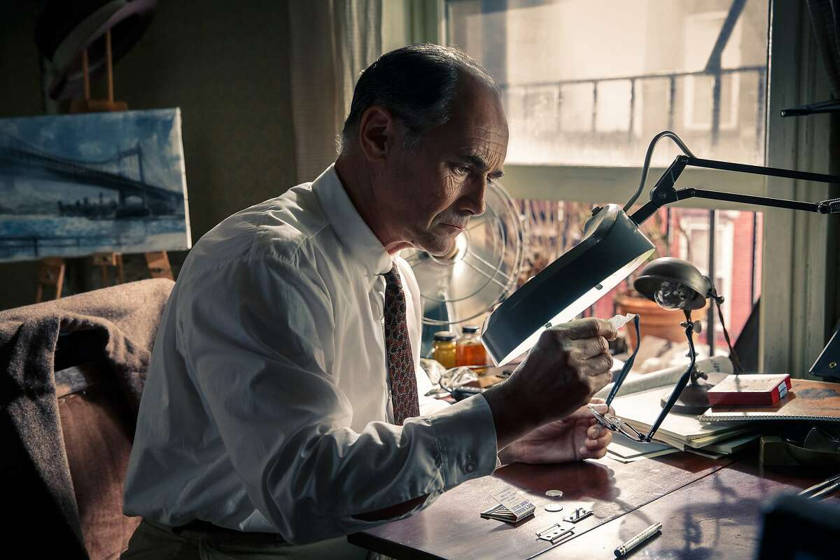 """In this image released by Disney, Mark Rylance appears in a scene from """"Bridge of Spies."""""""