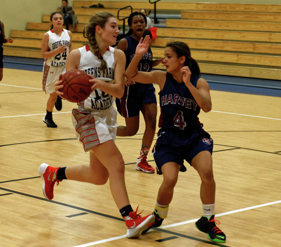 Greens Farms Academy junior Lexi Kimball scored 25 points in a 65-53 victory over The Harvey School last Thursday. Photo: Contributed Photo / Westport News Contributed