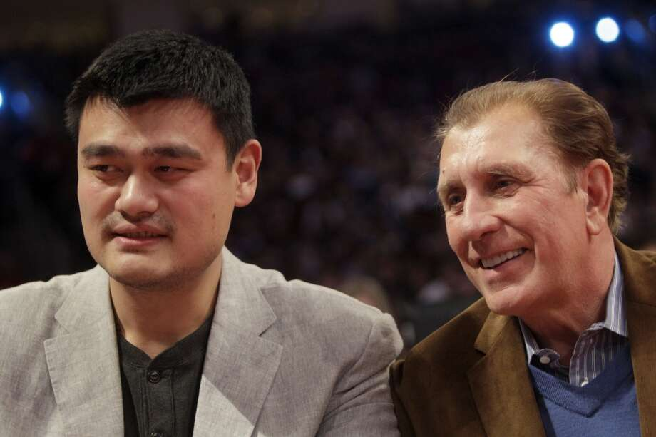 Former Rockets center Yao Ming (left) and ex-player and coach Rudy Tomjanovich are among the nominees for this year's Basketball Hall of Fame class.  Click through the gallery to see Hall of Fame players and coaches with Houston ties. Photo: Melissa Phillip, Houston Chronicle