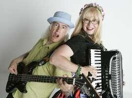 David Golia and Big Lou the Accordion Princess, his wife