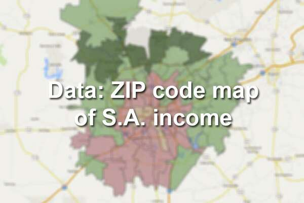 Map: Median household income in Bexar County by ZIP code ...