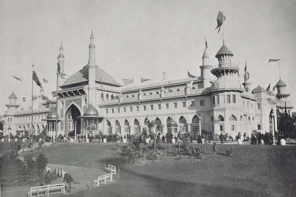 The Mechanical Arts Building at the San Francisco Midwinter Fair of 1894, in Golden Gate Park, from the collection of Bob Bragman