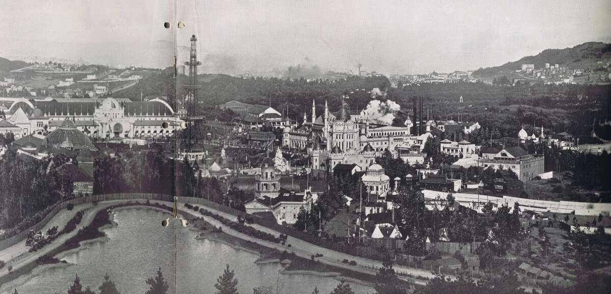 A view of the California Midwinter International Exposition in Golden Gate Park.