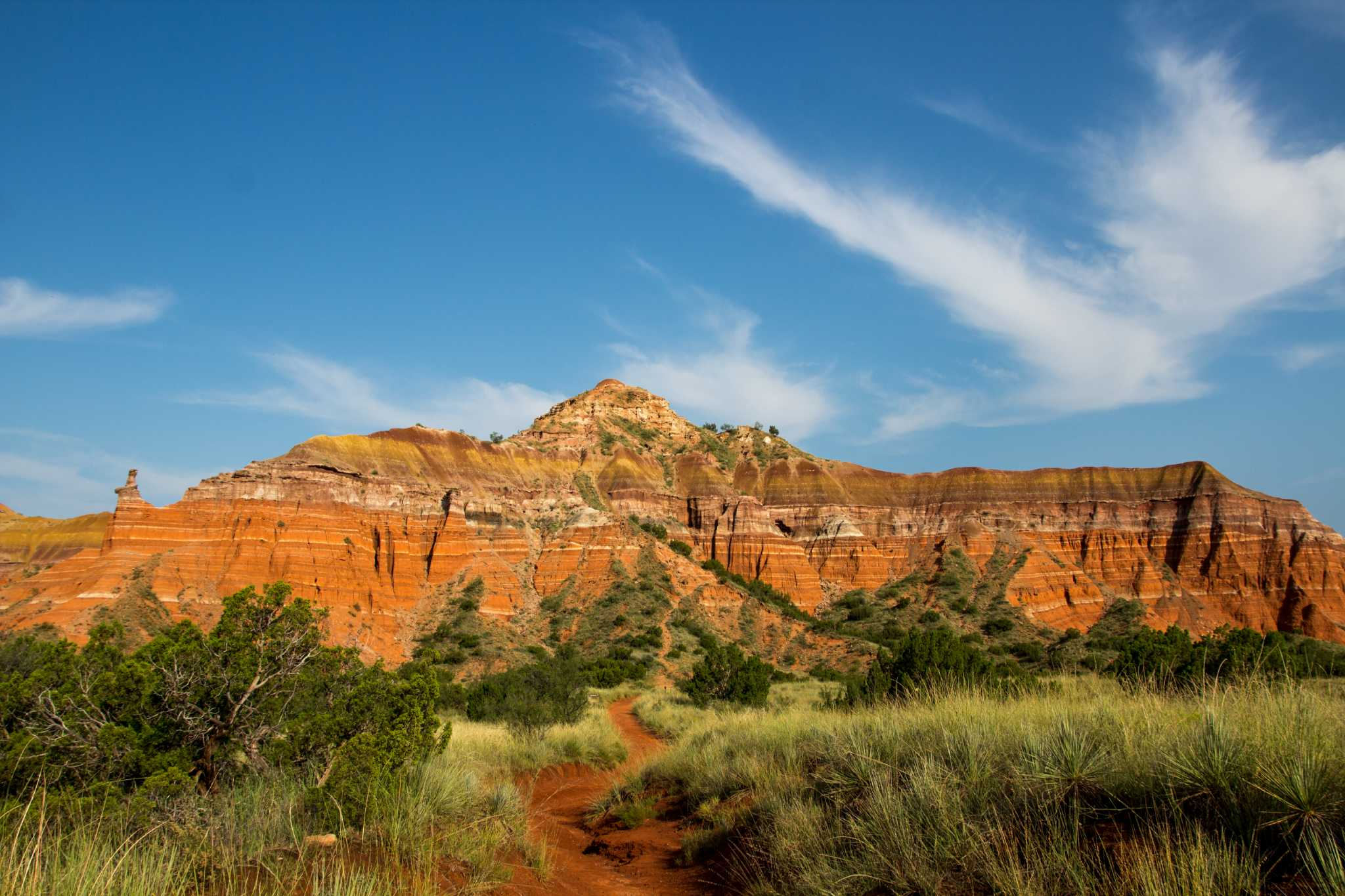 Out Of The Never Ending High Prairie Palo Duro Canyon