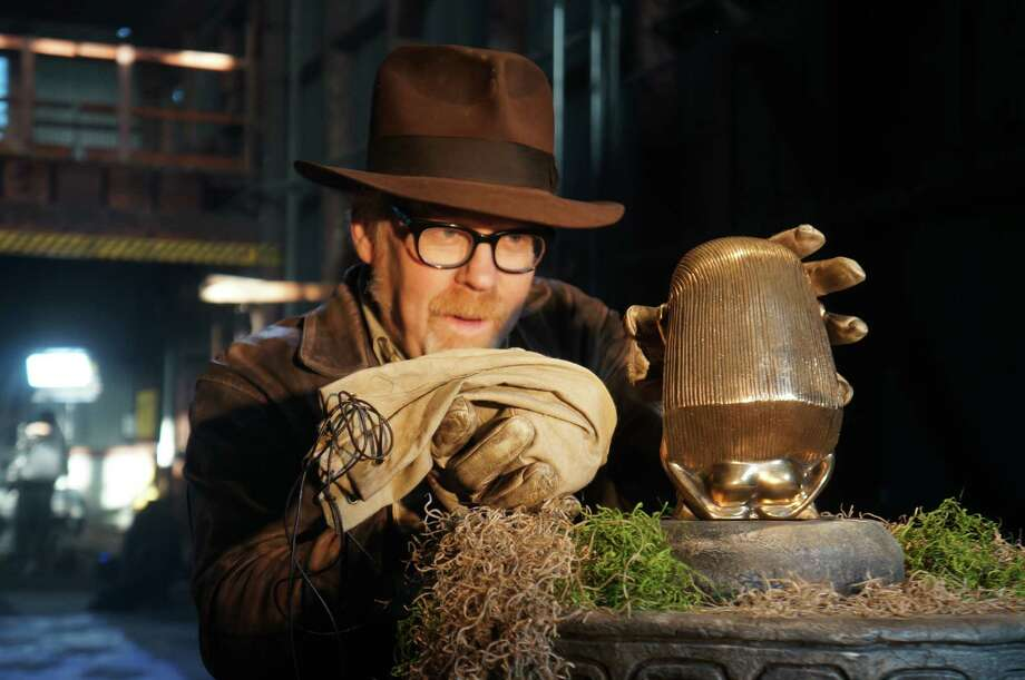 "Host Adam Savage works on a ""MythBusters"" test. Photo: Discovery Channel"