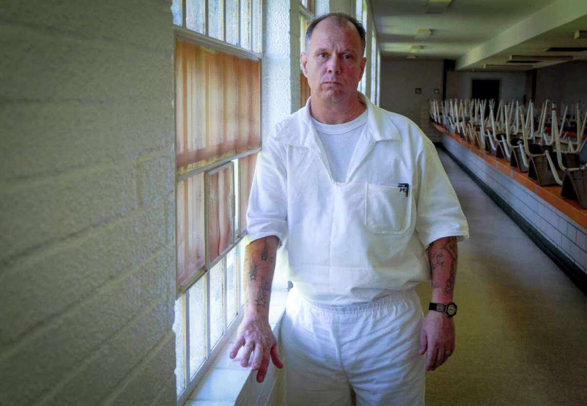 William Curtis Evans, now a prisoner at the Wynne Unit in Huntsville, TX June 25, 2015. Evans says a Harris County jailer broke his finger and physically assaulted him during his booking last year. Evans was later charged with assaulting the jailer during the same incident. He was sentenced to three years in prison on the charge. Four months after Evans' conviction, the sheriff's office disciplined the jailer in the case for not properly documenting the incident.