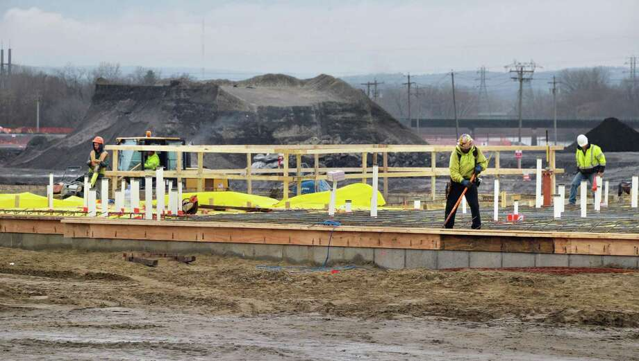 Work continues at Rivers Casino and Resort at Mohawk Harbor Thursday Dec. 17, 2015 in Schenectady, NY.  (John Carl D'Annibale / Times Union) Photo: John Carl D'Annibale / 10034707A