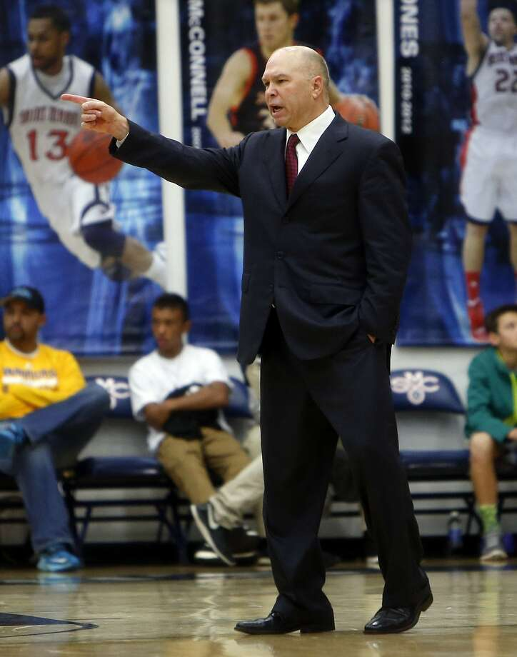St. Mary's head coach Randy Bennett during 1st half against USF during WCC basketball game in Moraga, Calif., on Monday, December 21, 2015. Photo: Scott Strazzante, The Chronicle