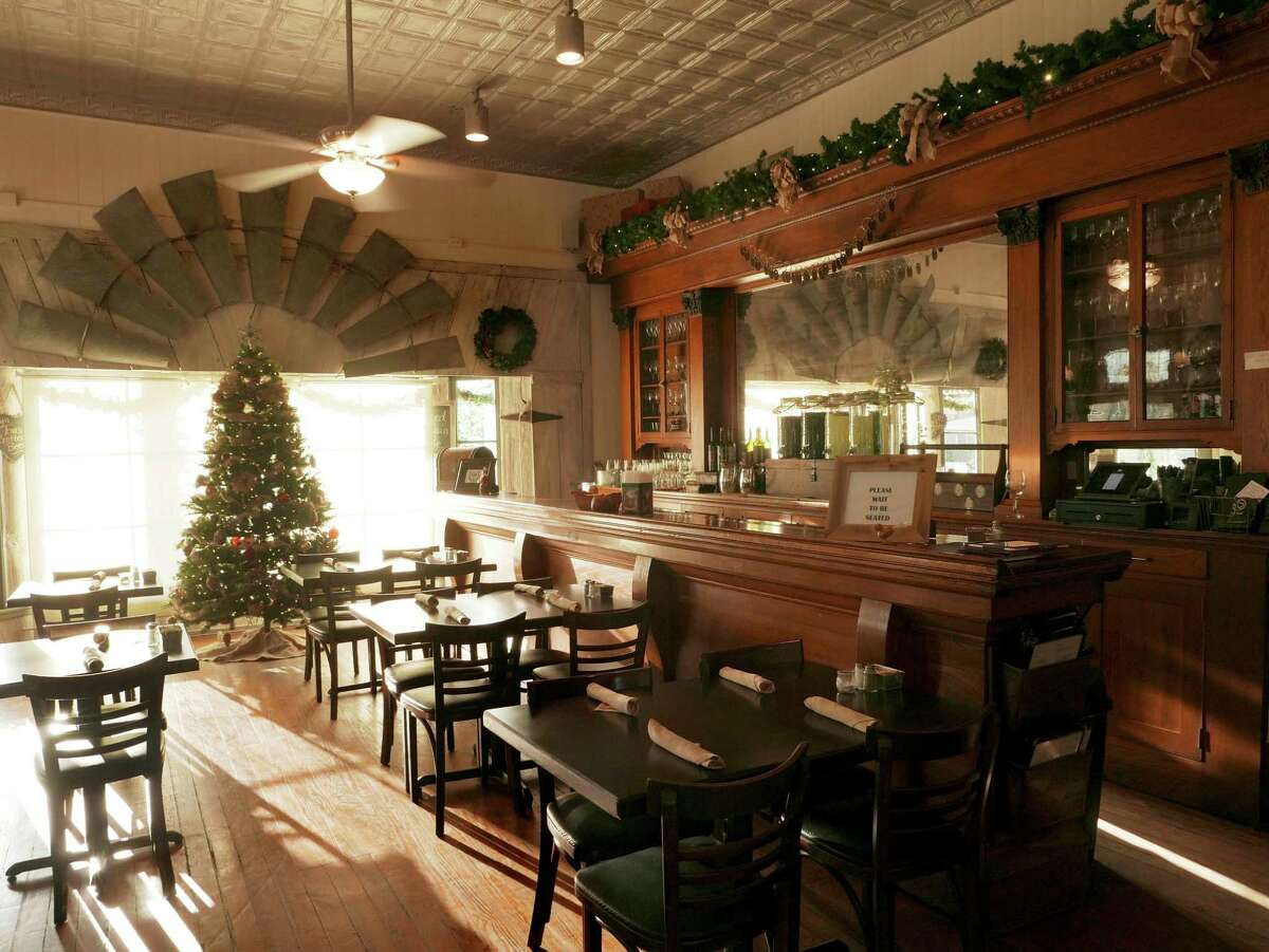 The interior of 259 Brantley's Bistro radiates a sense of Hill Country charm.